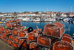Waterfront and harbour at Anstruther fishing village in East Neuk of Fife, Scotland, UK