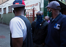 May 15, 2020, Pretoria, Gauteng, South Africa: In the cold morning at Pretoria Central South Africa, People made the long queue from the early morning on 15th May 2020 to get food hampers. (Credit Image: © Manash Das/ZUMA Wire)