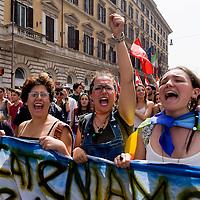 Scuola sciopero generale a Roma contro la riforma del Governo Renzi
