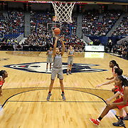HARTFORD, CONNECTICUT- DECEMBER 19: Napheesa Collier #24 of the Connecticut Huskies takes a free throw during the UConn Huskies Vs Ohio State Buckeyes, NCAA Women's Basketball game on December 19th, 2016 at the XL Center, Hartford, Connecticut (Photo by Tim Clayton/Corbis via Getty Images)