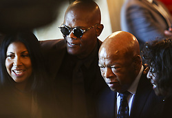 Samuel Jackson, John Lewis beim Empfang im Weissen Haus zur Einweihung des neuen Museums für Afroamerikanische Geschichte und Kultur in Washington <br /> <br /> / 240916<br /> <br /> *** Opening ceremony of the Smithsonian National Museum of African American History and Culture on September 24, 2016 in Washington, DC ***
