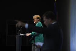 July 8, 2017 - Hamburg, Germany - German Chancellor Angela Merkel during a press conference at the conclusion of the two day G20 Summit meeting of world leaders July 8, 2017 in Hamburg, Germany. (Credit Image: © Marvin GüNgöR/Planet Pix via ZUMA Wire)