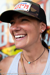 Jody Perewitz in Deadwood during the Sturgis Motorcycle Rally. SD, USA. Monday, August 9, 2021. Photography ©2021 Michael Lichter.