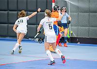 ROTTERDAM -  dames Amsterdam-Laren  ,hoofdklasse competitie  zaalhockey.   COPYRIGHT  KOEN SUYK