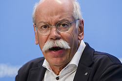 August 2, 2017 - Berlin, Germany - CEO of Daimler AG Dieter Zetsche is pictured during a news conference after the Diesel-Summit at the Ministry for Transportation and Digital Infrastructure in Berlin, Germany on August 2, 2017. (Credit Image: © Emmanuele Contini/NurPhoto via ZUMA Press)