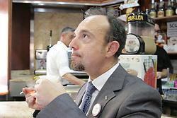 May 6, 2017 - Arzano, Italy - Election campaign at Arzano of the''Movimento Cinque Stelle'', represented by Senator Sergio Puglia, with the mayoral candidate chosen by the M5S, Giuseppe Abbatiello. (Credit Image: © Esposito Salvatore/Pacific Press via ZUMA Wire)