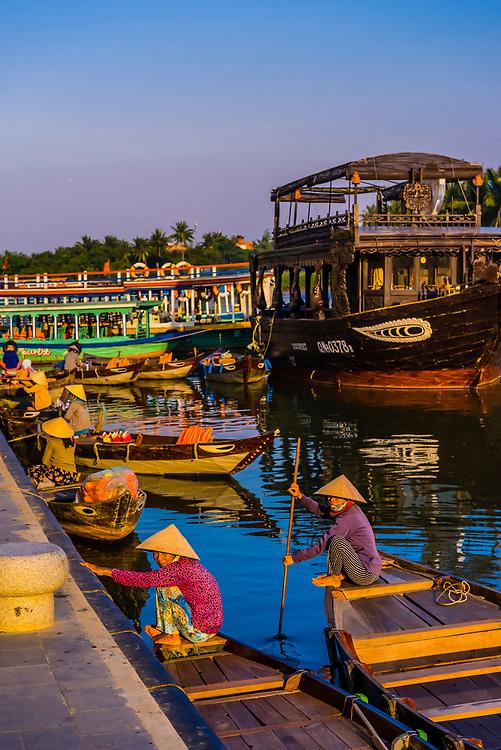 Waterfront, Thu Bon RIver, Hoi An, Vietnam.