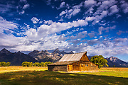The Moulton Barn on Mormon Row, Grand Teton National Park, Wyoming USA