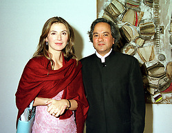 MR & MRS ANISH KAPOOR, he is the artist, at a dinner in London on 3rd May 2000.<br /> ODH 7