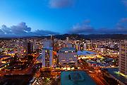 Sunset, twilight, Ala Moana, Honolulu, Oahu, Hawaii