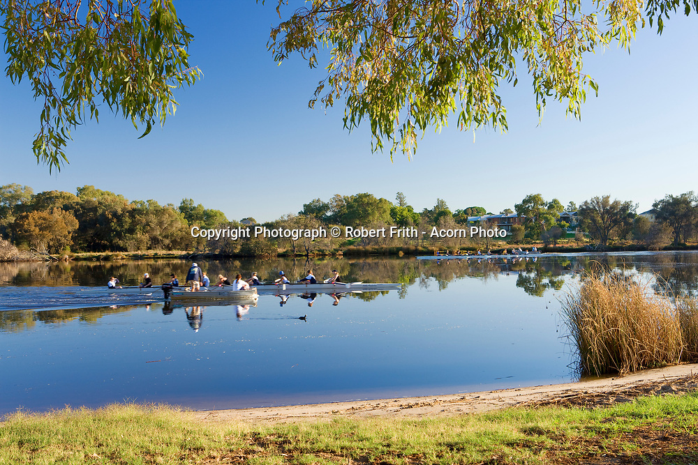 Rowing training near Ascot Race Course<br /> <br /> Walk and Cycle path around the south and east banks of the Swan River in the City of Belmont