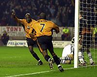 Fotball - Engelsk FA-cup - Tredje runde - 05.01.2003<br /> Wolverhampton v Newcastle 3-2<br /> George Ndah scorer vinnermålet<br /> Foto: Richard Lane, Digitalsport