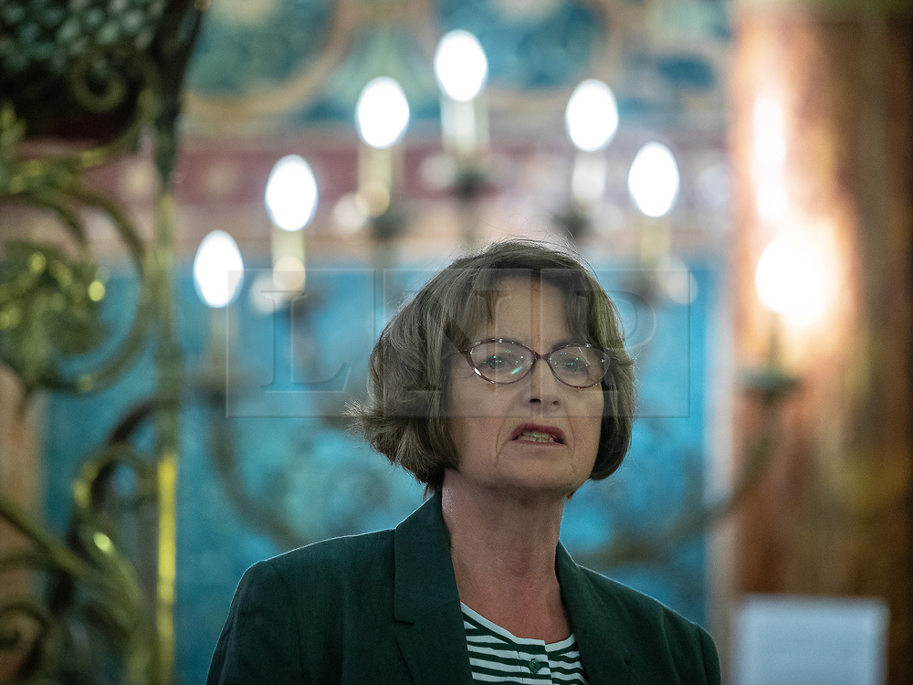 © Licensed to London News Pictures . 22/09/2019. Brighton, UK. LOUISE ELLMAN speaks at a fringe event by the Jewish Labour Movement at middle Street Brighton Synagogue, during the second day of the 2019 Labour Party Conference from the Brighton Centre . Photo credit: Joel Goodman/LNP