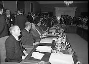EEC Leaders Meet At Dublin Castle.   (N4)..1979..29.11.1979..11.29.1979..29th November 1979..At Dublin Castle the leaders of the countries within the EEC held a summit conference to discuss issues which would affect the EEC over the forthcoming years..The leaders of the EEC in their places amid the media scrum for photographs and sound bites