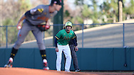 CARY, NC - MARCH 03: Notre Dame's Jake Johnson (39) takes a lead off of first base. The University of Maryland Terrapins played the University of Notre Dame Fighting Irish on March 3, 2017, at USA Baseball NTC Stadium Field in Cary, NC in a Division I College Baseball game, and part of the Irish Classic tournament. Maryland won the game 4-3.