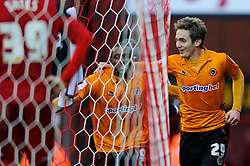 Wolves Forward Kevin Doyle (IRL) celebrates scoring a goal during the first half of the match - Photo mandatory by-line: Rogan Thomson/JMP - Tel: Mobile: 07966 386802 01/12/2012 - SPORT - FOOTBALL - Ashton Gate - Bristol. Bristol City v Wolverhampton Wanderers - npower Championship.