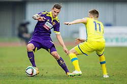 Petar Stojanovic of Maribor vs Matic Crnic of Domzale during football match between NK Domzale and NK Maribor in 25th Round of Prva liga Telekom Slovenije 2014/15, on March 22, 2015 in Sports park Domzale, Slovenia. Photo by Vid Ponikvar / Sportida