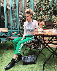"""Elena Carriere releases a photo on Instagram with the following caption: """"\ud83d\udc0d\ud83d\udc22\ud83e\udd8e What are your favorite spots in Paris? \ud83c\udfdb #pfw"""". Photo Credit: Instagram *** No USA Distribution *** For Editorial Use Only *** Not to be Published in Books or Photo Books ***  Please note: Fees charged by the agency are for the agency's services only, and do not, nor are they intended to, convey to the user any ownership of Copyright or License in the material. The agency does not claim any ownership including but not limited to Copyright or License in the attached material. By publishing this material you expressly agree to indemnify and to hold the agency and its directors, shareholders and employees harmless from any loss, claims, damages, demands, expenses (including legal fees), or any causes of action or allegation against the agency arising out of or connected in any way with publication of the material."""