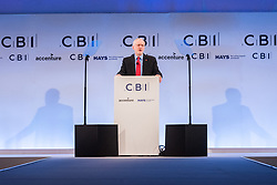 © Licensed to London News Pictures. 06/11/2017. London, UK. British Labour party leader JEREMY CORBYN makes a speech at the Confederation of British Industry (CBI) conference, held at Intercontinental Hotel. Photo credit: Ray Tang/LNP