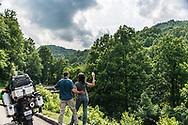 Many coffe break on or motorcycle road trip.
