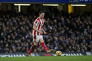 Kevin Wimmer of Stoke City in action. <br /> Premier league match, Chelsea v Stoke city at Stamford Bridge in London on Saturday 30th December 2017.<br /> pic by Kieran Clarke, Andrew Orchard sports photography.