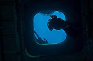 Forward exit, First Platform, USS Kittiwake