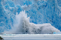 Calving ice from South Sawyer Glacier in Tracy Arm - Fords Terror Wilderness, Southeast Alaska.