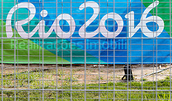 04.08.2016, Olympic Village, Rio de Janeiro, BRA, Rio 2016, Olympische Sommerspiele, Vorberichte, im Bild Rio 2016 Branding // Rio 2016 Branding during preparation for the Rio 2016 Olympic Summer Games at the Olympic Village in Rio de Janeiro, Brazil on 2016/08/04. EXPA Pictures © 2016, PhotoCredit: EXPA/ Johann Groder