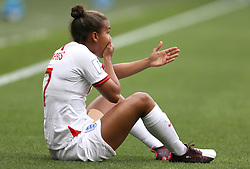 England's Nikita Parris is fouled by Cameroon's Yvonne Leuko (not pictured) during the FIFA Women's World Cup, round of Sixteen match at State du Hainaut, Valenciennes.