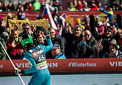Peter Prevc (SLO) reacts during the Qualification Round of the Ski Flying Hill Individual Competition at Day 1 of FIS Ski Jumping World Cup Final 2019, on March 21, 2019 in Planica, Slovenia. Photo by Vid Ponikvar / Sportida