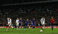 Photo: Paul Thomas/Sportsbeat Images.<br /> England v Croatia. UEFA European Championships Qualifying. 21/11/2007.<br /> <br /> Frank Lampard of England scores a penalty.