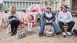 19/04/2014.  The Dawson family enjoy the annual St Georges Day celebration in Birmingham city centre's Victoria Square today.  Photo credit: Alison Baskerville/LNP