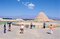 China. Ningxia Province. Yinchuan. Xixia Wangling. Western Xia necropolis.  // Chine. Province du Ningxia. Yinchuan. Xixia Wangling. Nécropole des Xia de l'ouest.