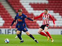 ootball - 2020 / 2021 Sky Bet League One - Sunderland vs Blackpool - Stadium of Light<br /> <br /> Kenny Dougall of Blackpool vies with Aiden O'Brien of Sunderland<br /> <br /> Credit: COLORSPORT/BRUCE WHITE