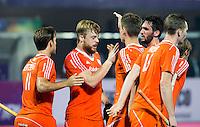 BHUBANESWAR  (INDIA) -  Netherlands vs India on day 3 of the Hero Champions Trophy Hockey.   Mink van der Weerden of the Netherlands has scored.