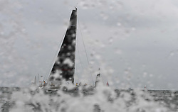 HAIKOU, March 16, 2019  A yacht competes during the Haikou Offshore Race at the 2019 Round Hainan Regatta in Haikou, capital of south China's Hainan Province, March 16, 2019. (Credit Image: © Xinhua via ZUMA Wire)