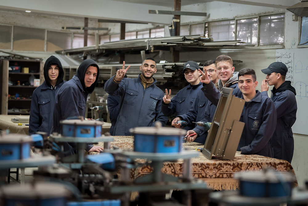 25 February 2020, Jerusalem: Students in Aluminium work at the vocational training centre in Beit Hanina. The Lutheran World Federation's vocational training centre in Beit Hanina offers vocational training for Palestinian youth across a range of different professions, providing them with the tools needed to improve their chances of finding work.