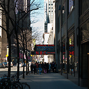 People waiting at the doors of NBC Studios, Rainbow Room of Rockefeller Center, Manhattan, New York