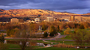 Idaho, Boise, sunset after springtime rainshower, Boise Foothills, Ann Morrison Park