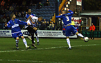 Photo: Mark Stephenson/Sportsbeat Images.<br /> Stockport County v Hereford United. Coca Cola League 2. 17/11/2007.Hereford's Lional Ainsworth heads in his 2ed goal