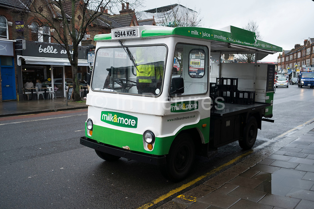 Milk float in Earlsfield in London, England, United Kingdom. In Britain, a milk float is a vehicle specifically designed for the delivery of fresh milk. Today, milk floats are usually battery electric vehicles. They were once common in many European countries, particularly the United Kingdom, and were operated by local dairies. However, in recent years, as the number of supermarkets, small independent grocers and convenience stores stocking fresh milk has increased, many people have switched from regular home delivery to obtaining fresh milk from these other sources.
