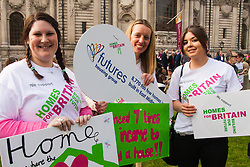 Methodist Central Hall, Westminster, March 17th 2015. Members of various housing groups from across the UK arrive at the Methodist Central Hall in London for the Homes for Britain Rally, which is aimed at highlighting the current housing crisis which affects low income workers, especially in London where rents and house prices are now well beyond their reach.