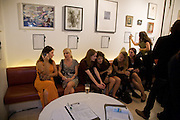 WIEBKE DREYER; KATARINA FORSS; SOPHIE TREVELYAN THOMAS; TESSA CLARFELT; SOPHIE PAGE; TESSA TREVELYAN THOMAS. Macmillan De'Longhi Art Auction in aid of Macmillan Cancer Support. Avenue. St. James's. London. 23 September 2008. *** Local Caption *** -DO NOT ARCHIVE-© Copyright Photograph by Dafydd Jones. 248 Clapham Rd. London SW9 0PZ. Tel 0207 820 0771. www.dafjones.com.
