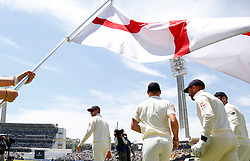 England players take the field during day two of the Ashes Test match at the WACA Ground, Perth.