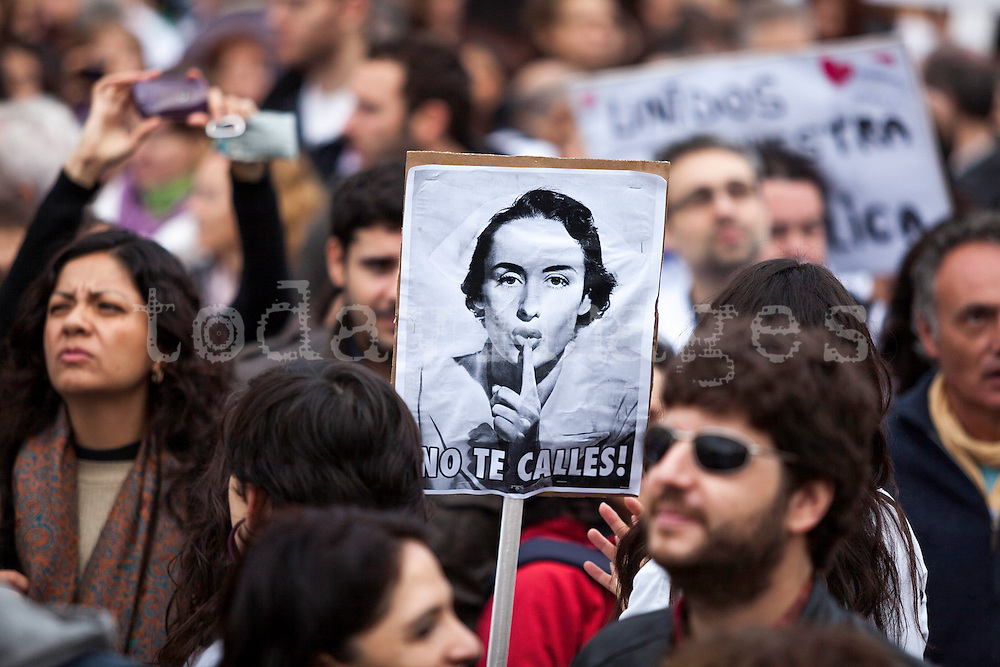 Demonstration against the privatization of public health care system in Spain