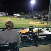 Fan Jim Langlois scoring during the New Britain Rock Cats Vs Binghamton Mets Minor League Baseball game at New Britain Stadium, New Britain, Connecticut, USA. 2nd July 2014. Photo Tim Clayton
