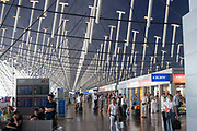 Interior of Shanghai International Airport in Shanghai, China. Shanghai Pudong International Airport is one of two international airports of Shanghai and a major aviation hub of China.