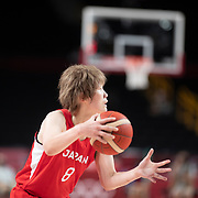 TOKYO, JAPAN August 8:   Maki Takada #8 of Japan in action during the Japan V USA basketball final for women at the Saitama Super Arena during the Tokyo 2020 Summer Olympic Games on August 8, 2021 in Tokyo, Japan. (Photo by Tim Clayton/Corbis via Getty Images)