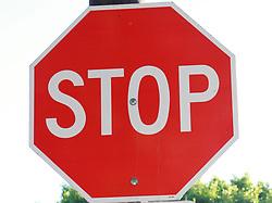 Sep. 15, 2010 - Los Angeles, California, U.S. - Standard U.S. stop sign. (Credit Image: © Olivier Pojzman/ZUMAPRESS.com)