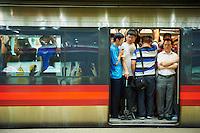 Chine, Pekin, le metro // China, Beijing, Subway